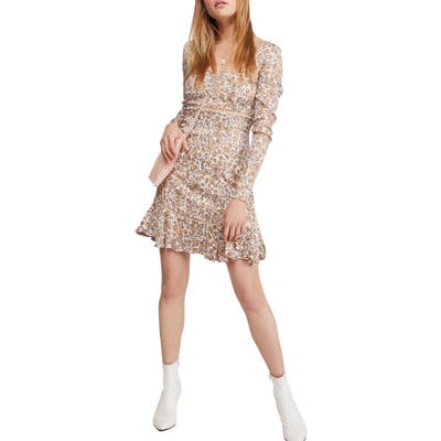Free People Boheme Long Sleeve Minidress, Ivory