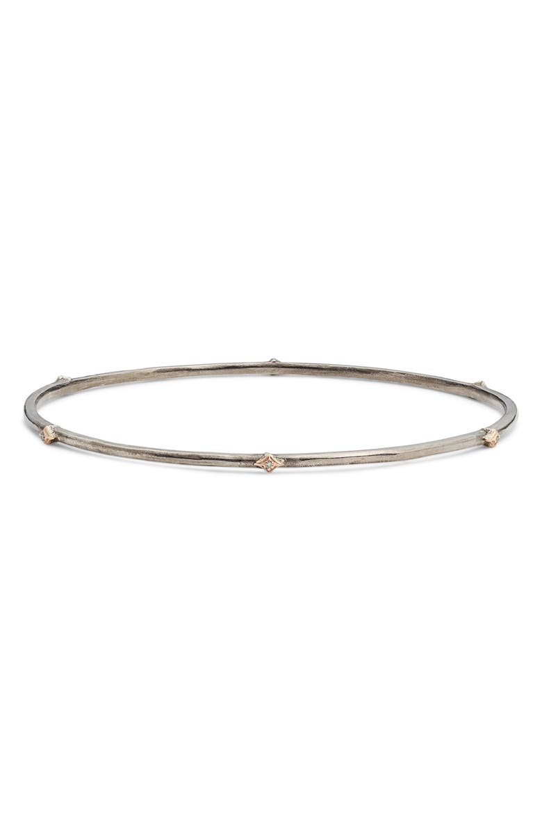 ARMENTA New World Crivelli Diamond Bangle, Main, color, BLACKENED SILVER/ GOLD