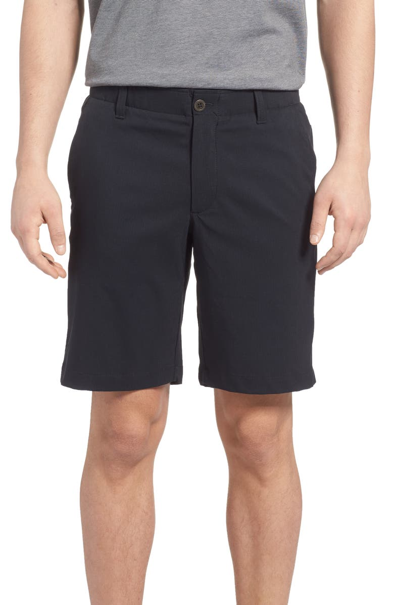 UNDER ARMOUR Takeover Regular Fit Golf Shorts, Main, color, BLACK