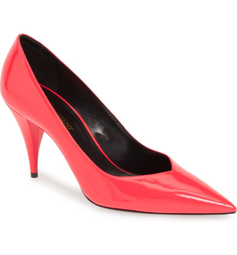 SAINT LAURENT Kiki Pointy Toe Pump, Main, color, FUSCHIA FLUO