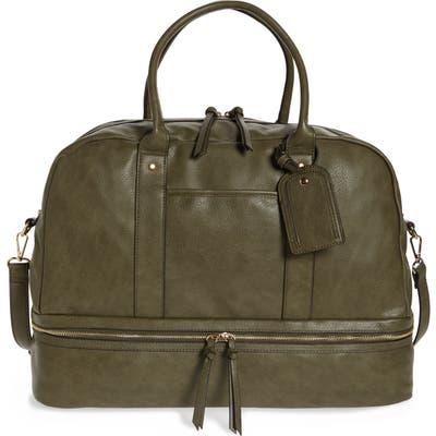 Sole Society Mason Faux Leather Travel Satchel - Green