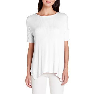 Michael Stars Ryann Ribbed Tunic Top, Size One Size - White