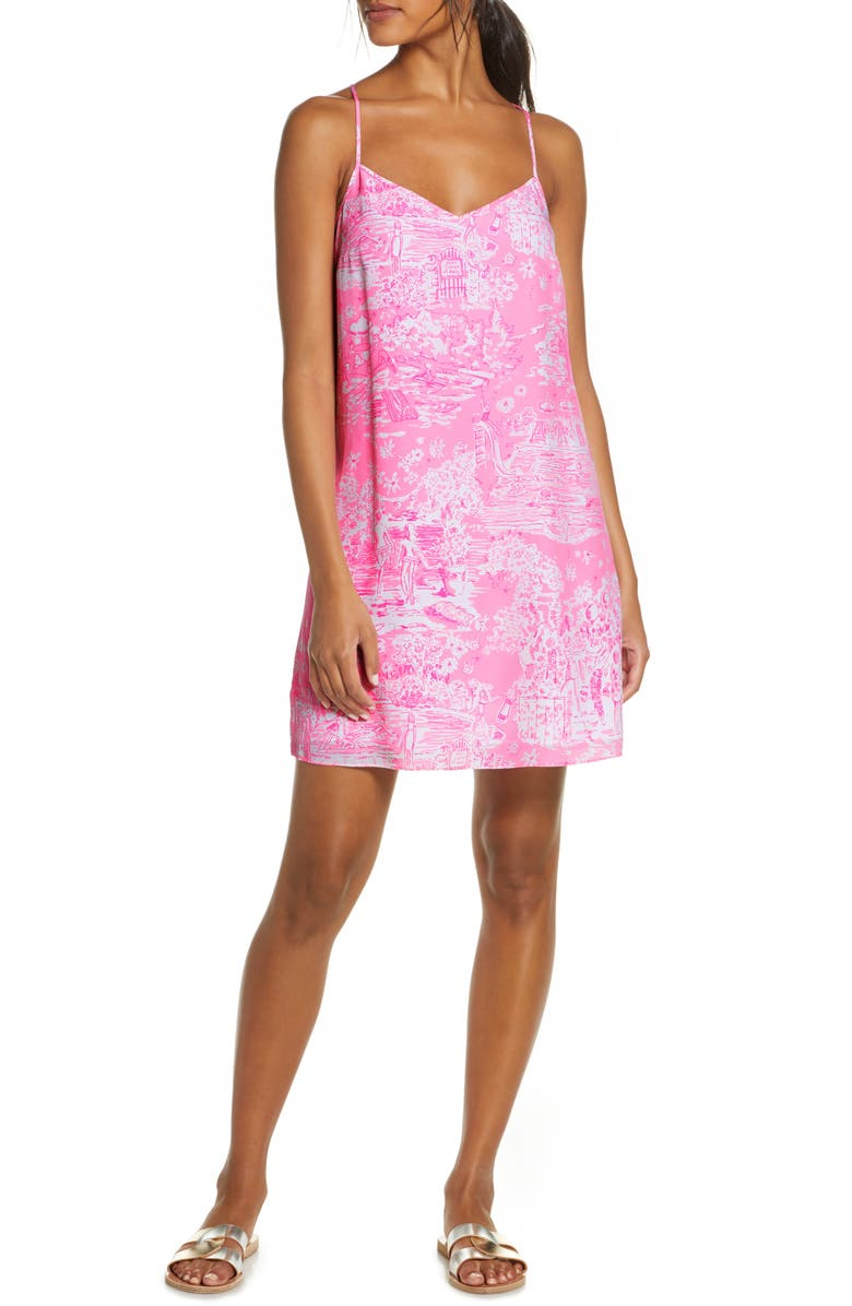 LILLY PULITZER<SUP>®</SUP> Dusk Silk Slipdress, Main, color, 678