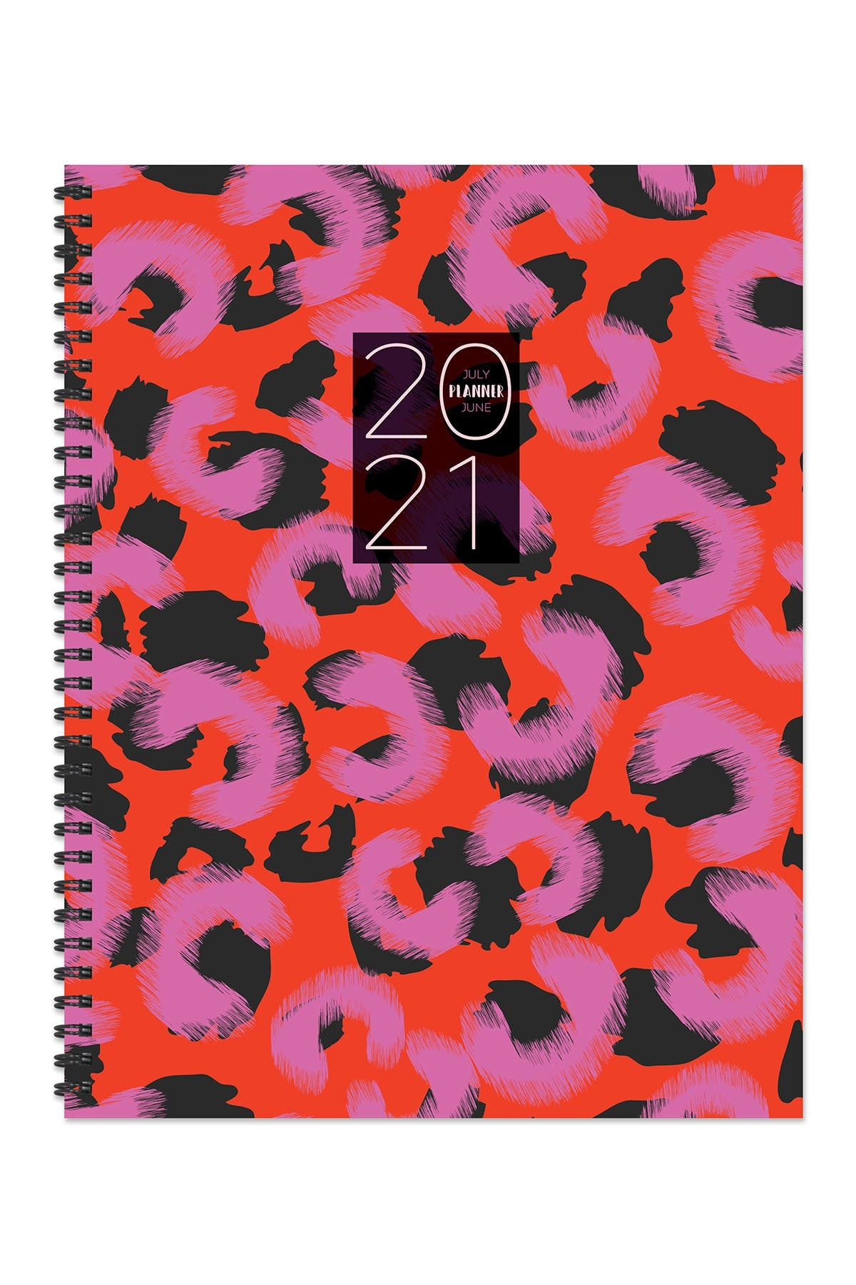 """Image of TF Publishing July 2020 - June 2021 Wild Animal Print Large 8.5""""x11"""" Daily Weekly Monthly Planner + Coordinating Planning Stickers"""