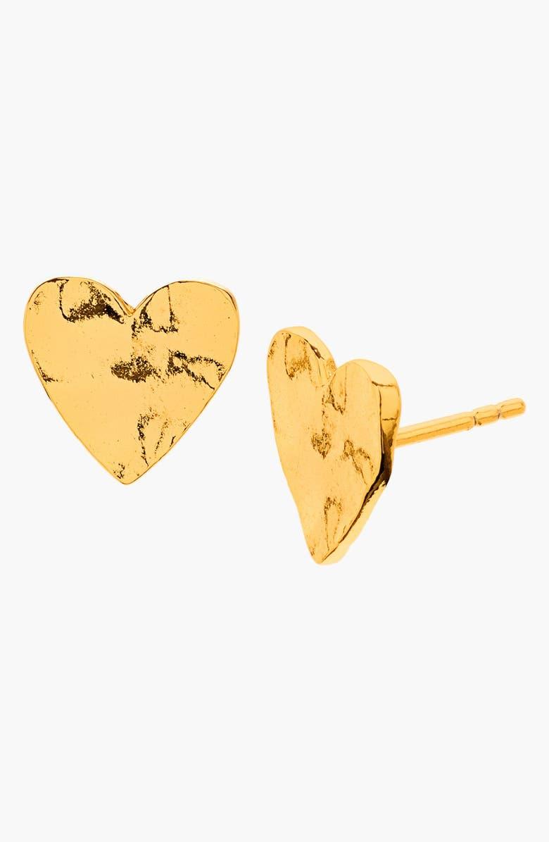 GORJANA 'Chloe' Heart Stud Earrings, Main, color, Gold