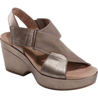 Earth Kendi Platform Sandal, Metallic