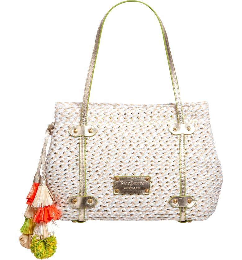 ERIC JAVITS Squishee<sup>®</sup> Aegean Shopper Tote, Main, color, WHITE MIX