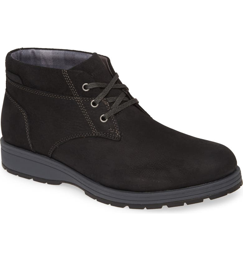 HUSH PUPPIES<SUP>®</SUP> Hush Puppies Beauceron Short Ice Chukka Boot, Main, color, BLACK WP LEATHER