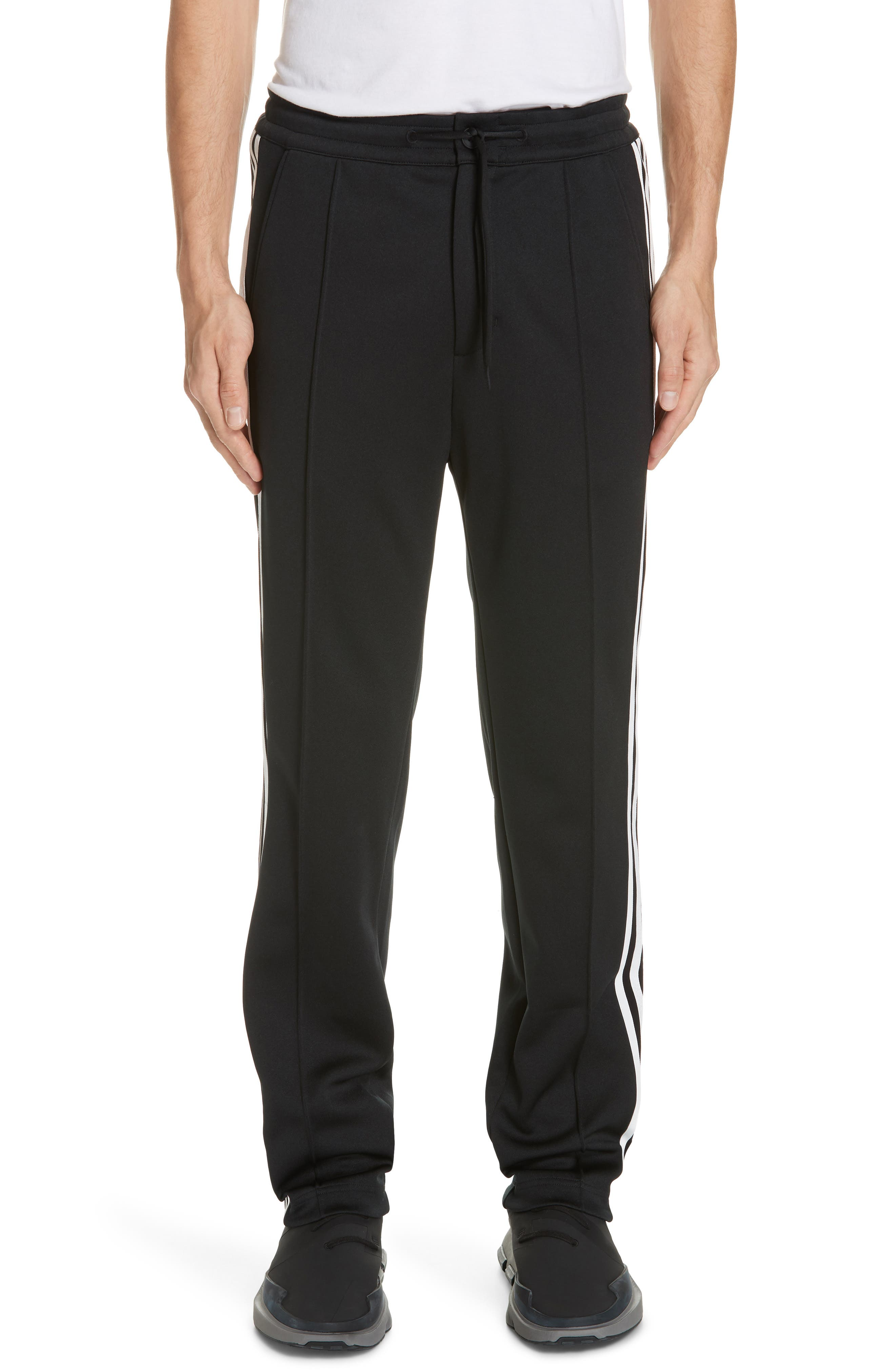 ,                             x adidas 3-Stripes Track Pants,                             Main thumbnail 1, color,                             BLACK
