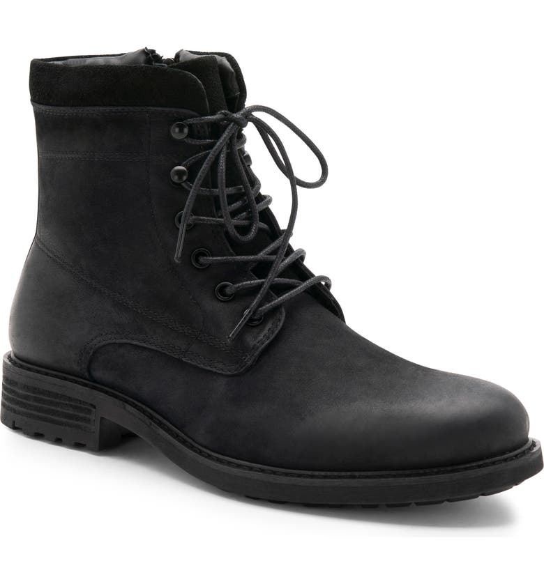 BLONDO Patton Waterproof Plain Toe Boot, Main, color, BLACK NUBUCK