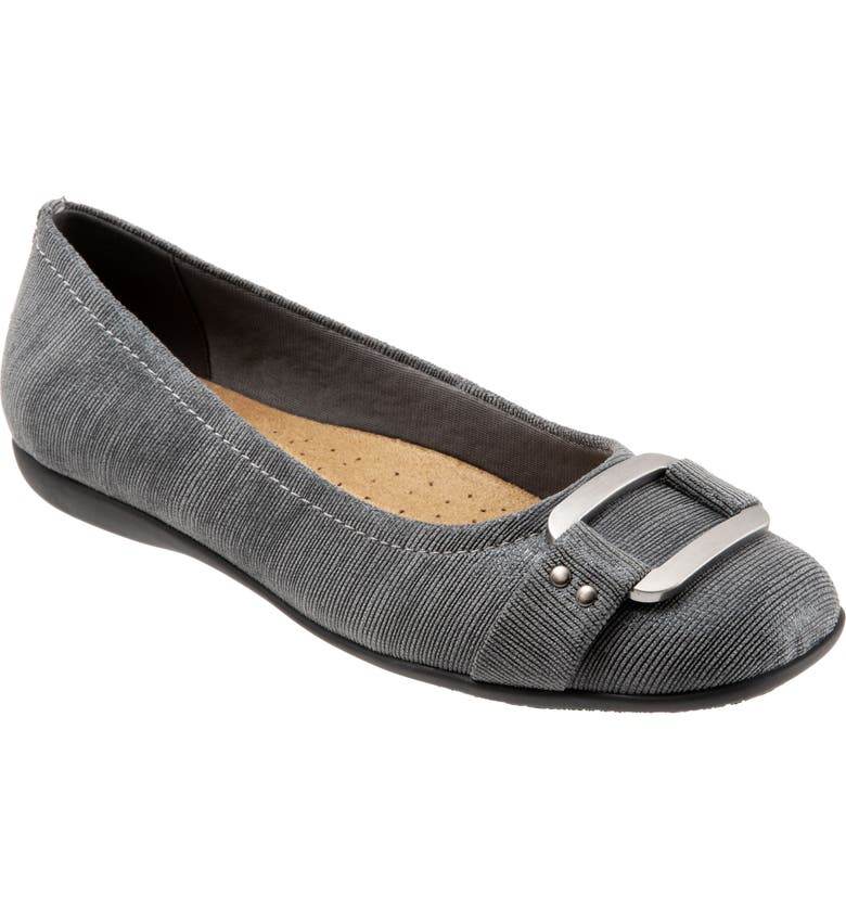 TROTTERS 'Sizzle Signature' Flat, Main, color, GREY FABRIC