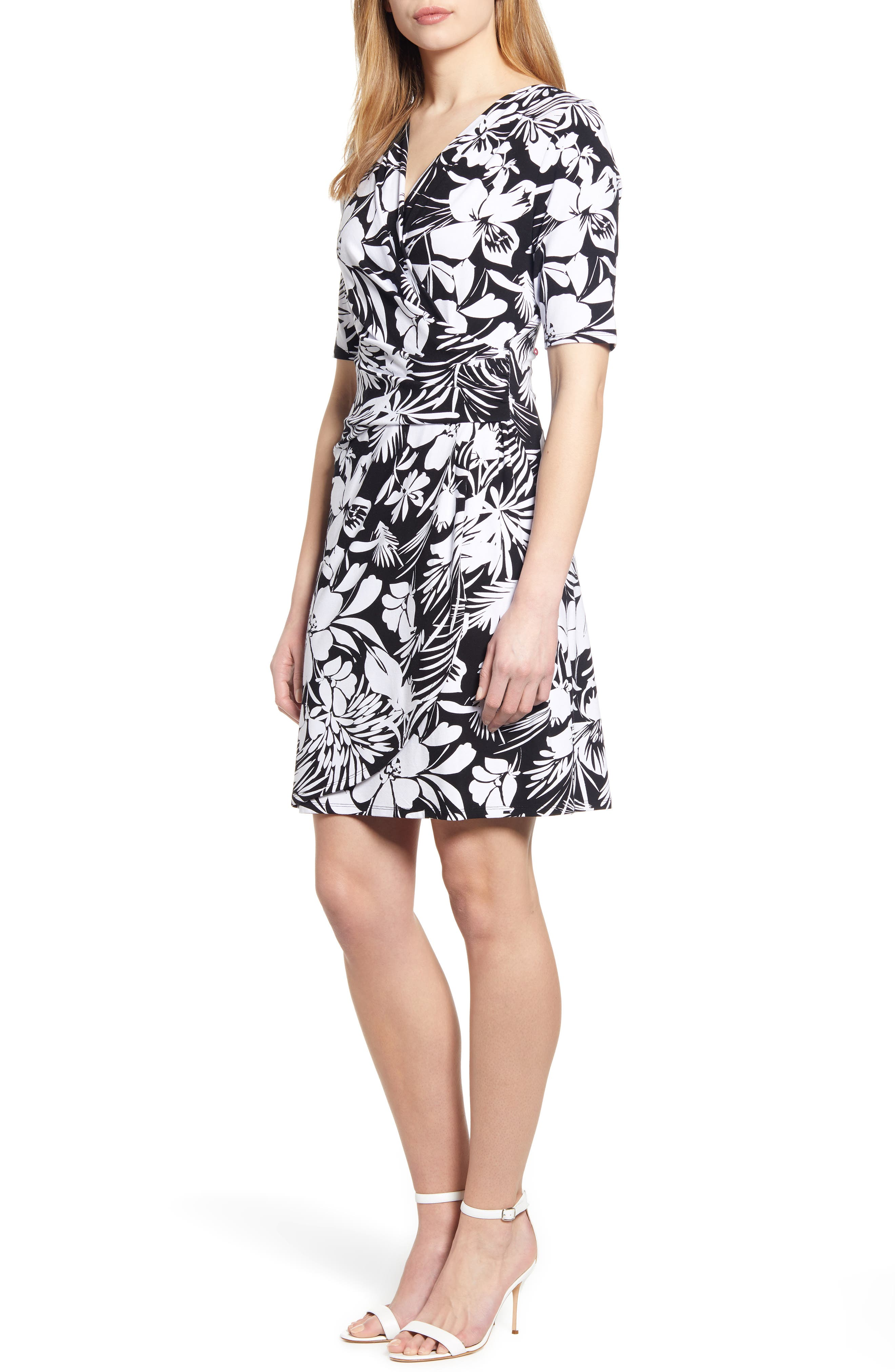 Tommy Bahama Buona Sera Wrap Dress, Black