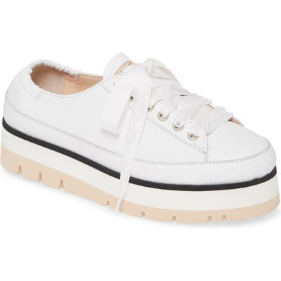 Agl Platform Low Top Sneaker, Ivory