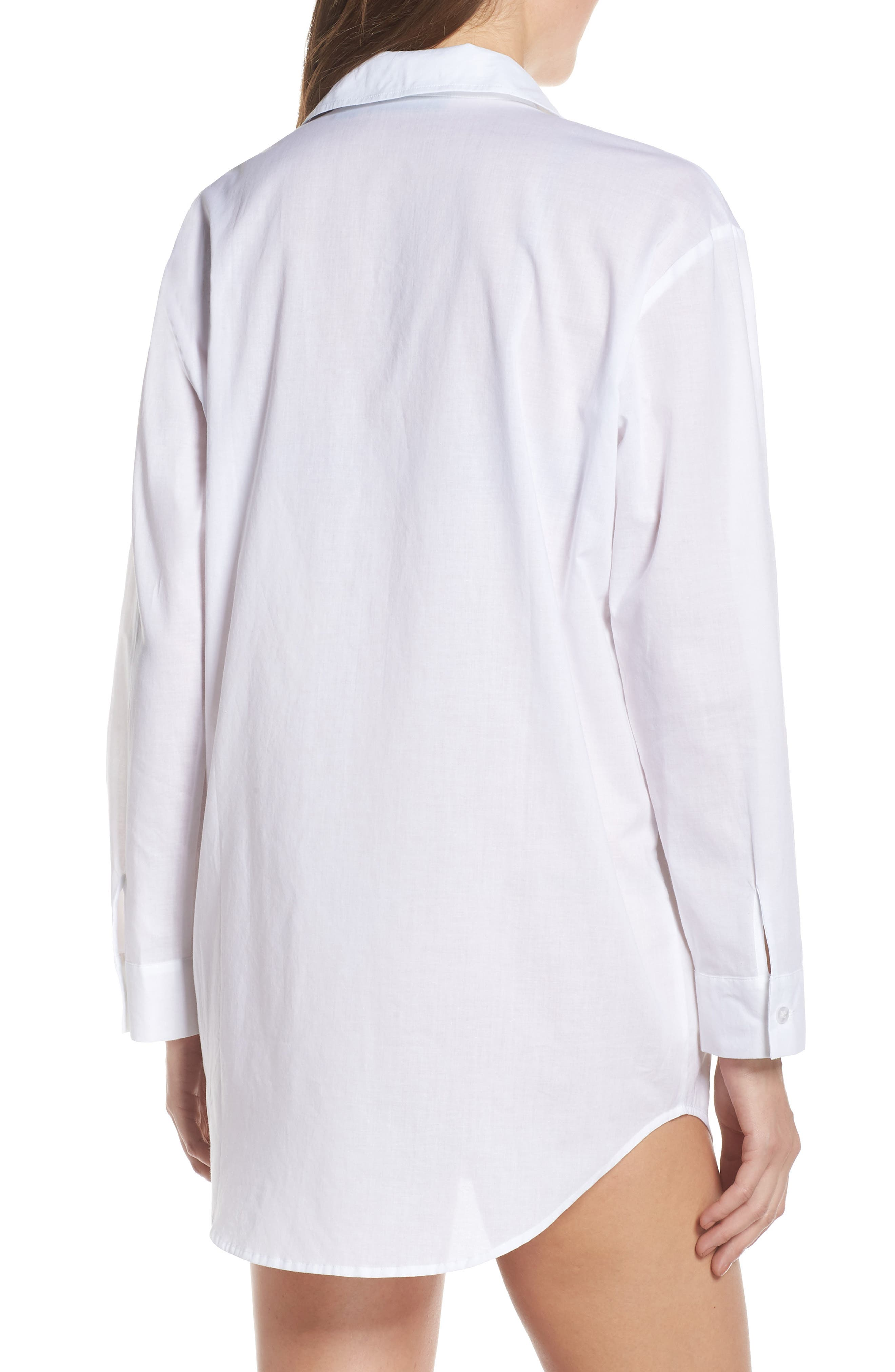 ,                             Cotton Nightshirt,                             Alternate thumbnail 4, color,                             WHITE