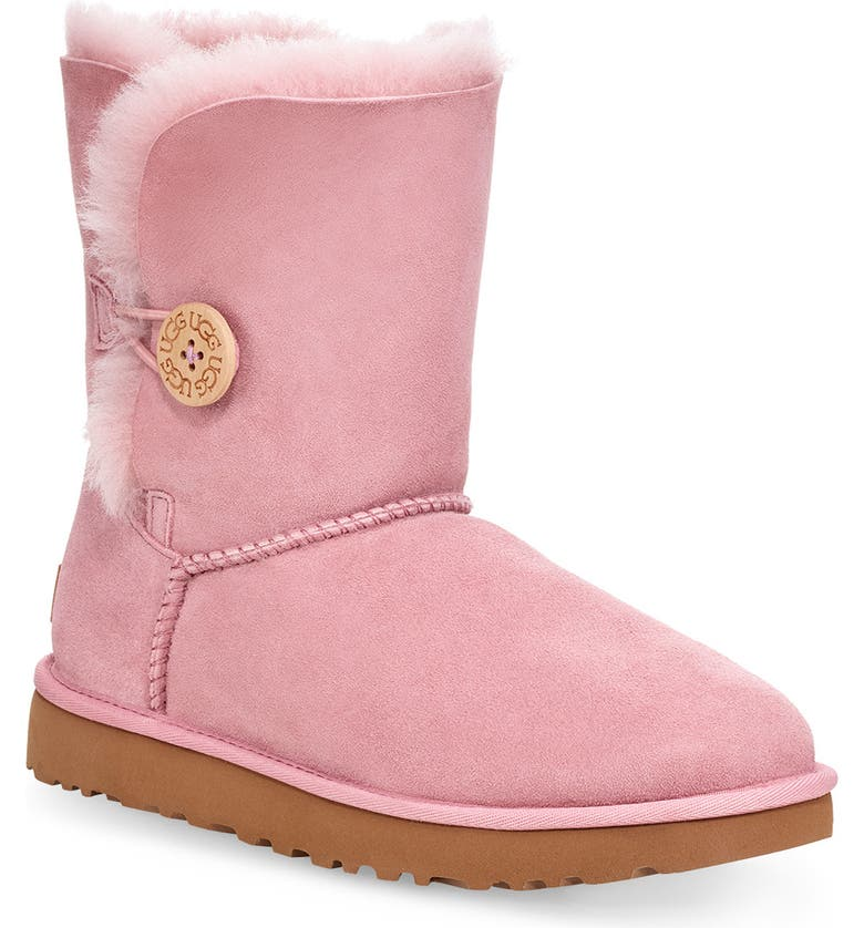 UGG<SUP>®</SUP> 'Bailey Button II' Boot, Main, color, PINK CRYSTAL SUEDE