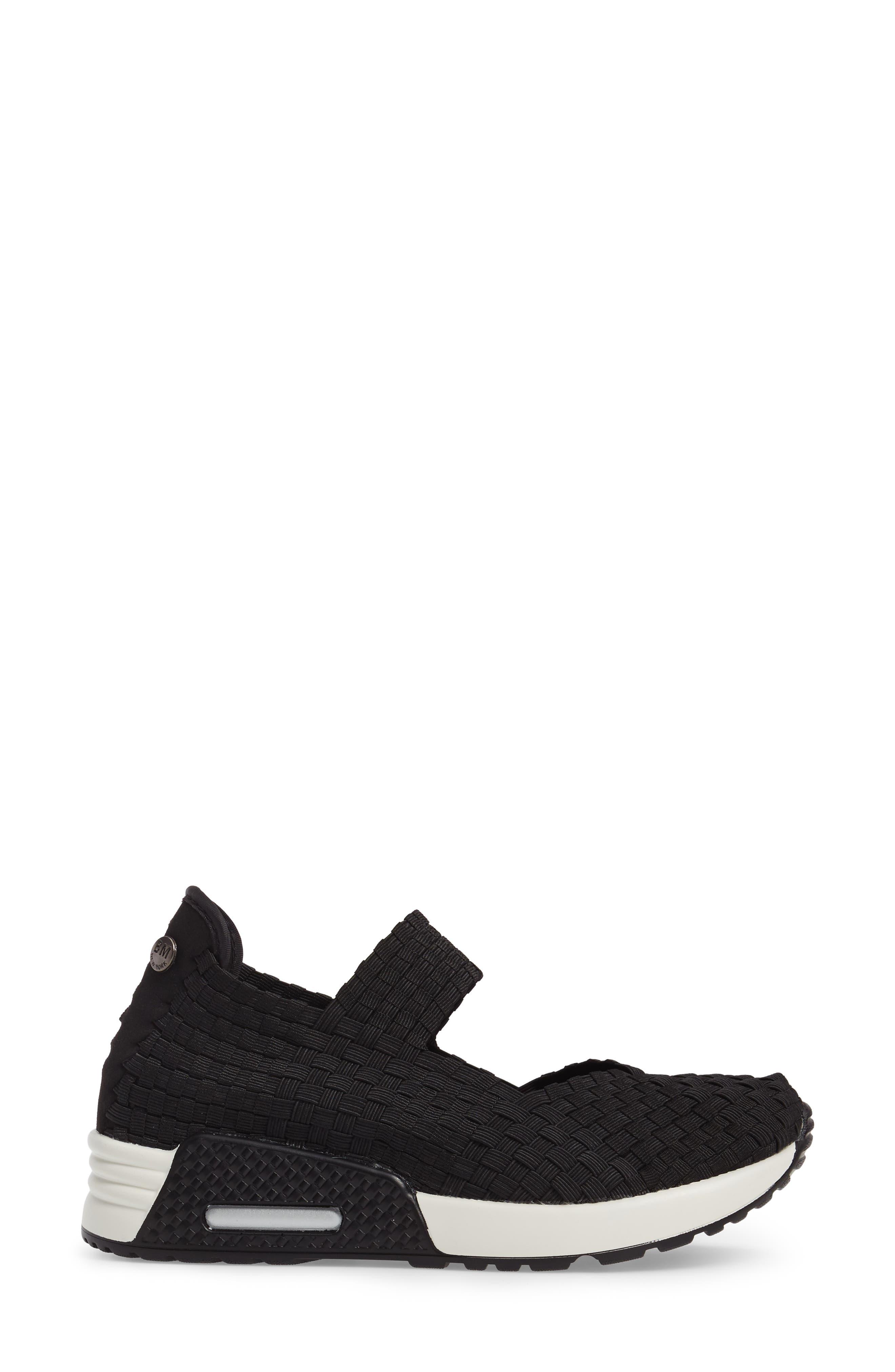 ,                             Best Charm Mary Jane Sneaker,                             Alternate thumbnail 3, color,                             BLACK FABRIC
