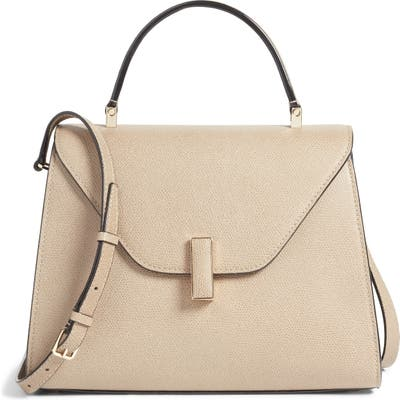 Valextra Iside Mini Top Handle Bag - Beige