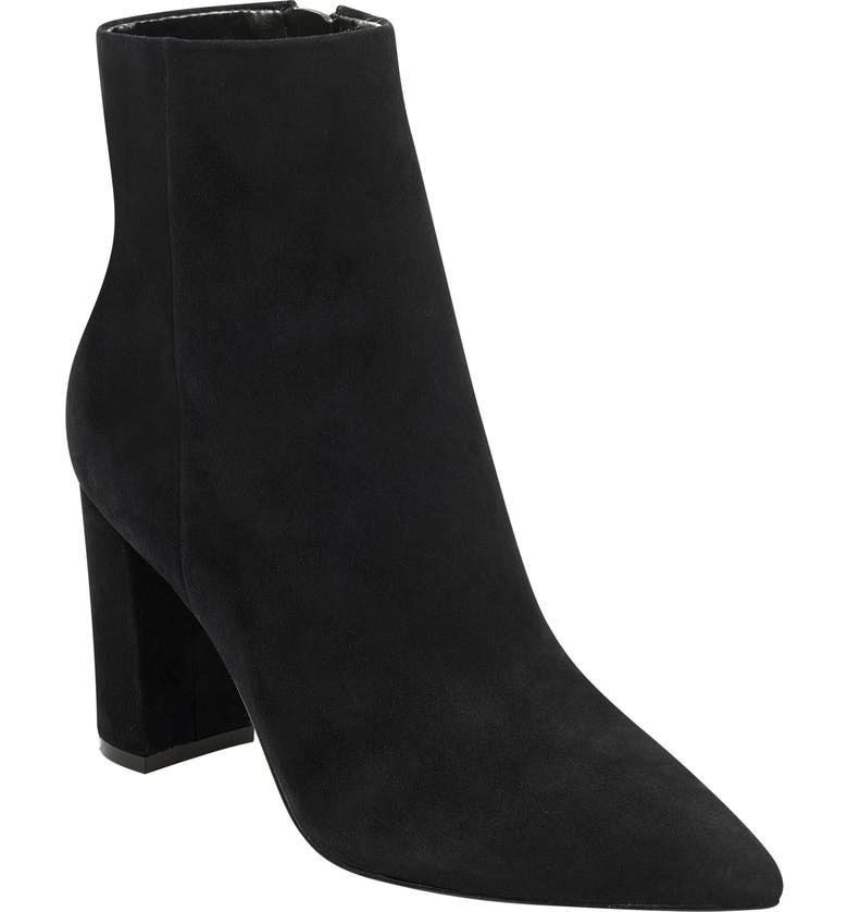 MARC FISHER LTD . Ulani Pointy Toe Bootie, Main, color, BLACK SUEDE