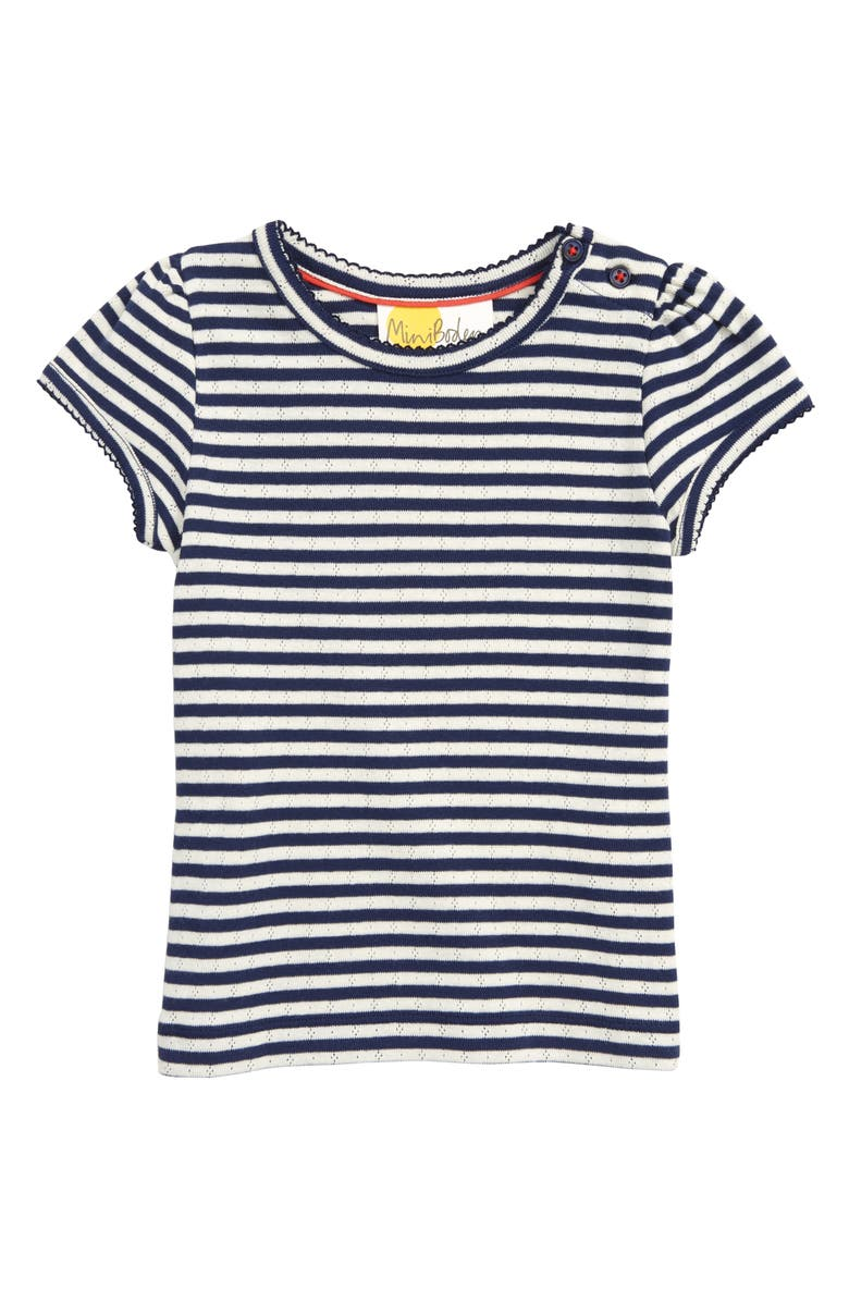 MINI BODEN Boden Pointelle Shirt, Main, color, 424