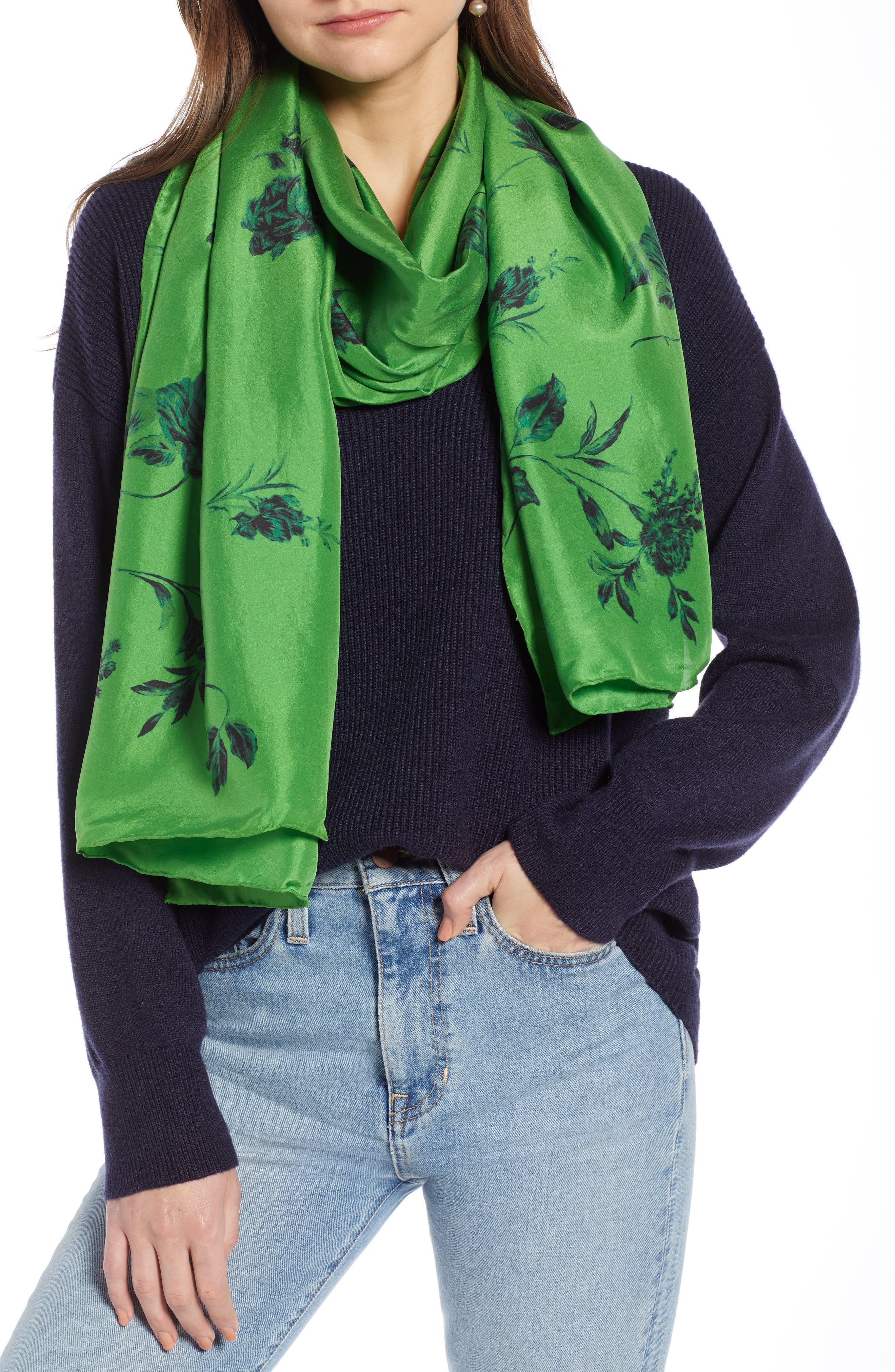 Floral Silk Wrap, Main, color, 310