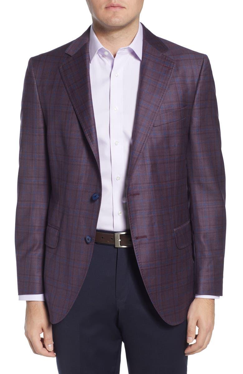 PETER MILLAR Classic Fit Plaid Wool Sport Coat, Main, color, 930