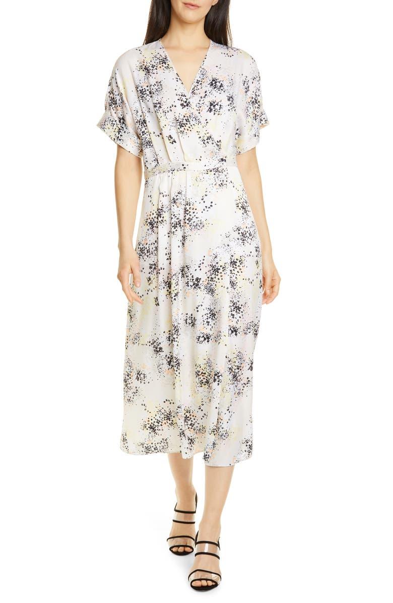 EQUIPMENT Tavine Silk Midi Dress, Main, color, ECRU MULTI