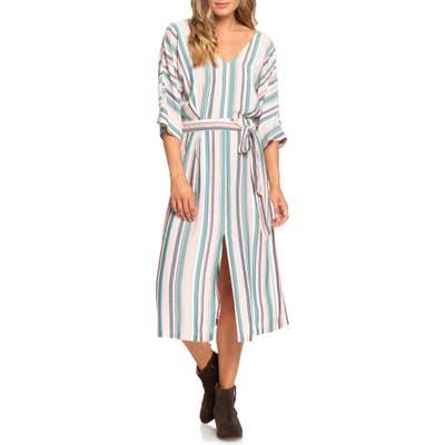 Roxy Run The Road Stripe Midi Dress, Blue