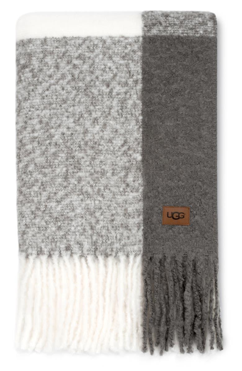 UGG<SUP>®</SUP> San Mateo Throw Blanket, Main, color, 020
