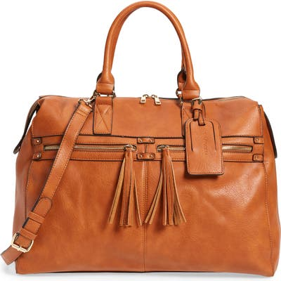Sole Society Faux Leather Duffle Bag - Brown