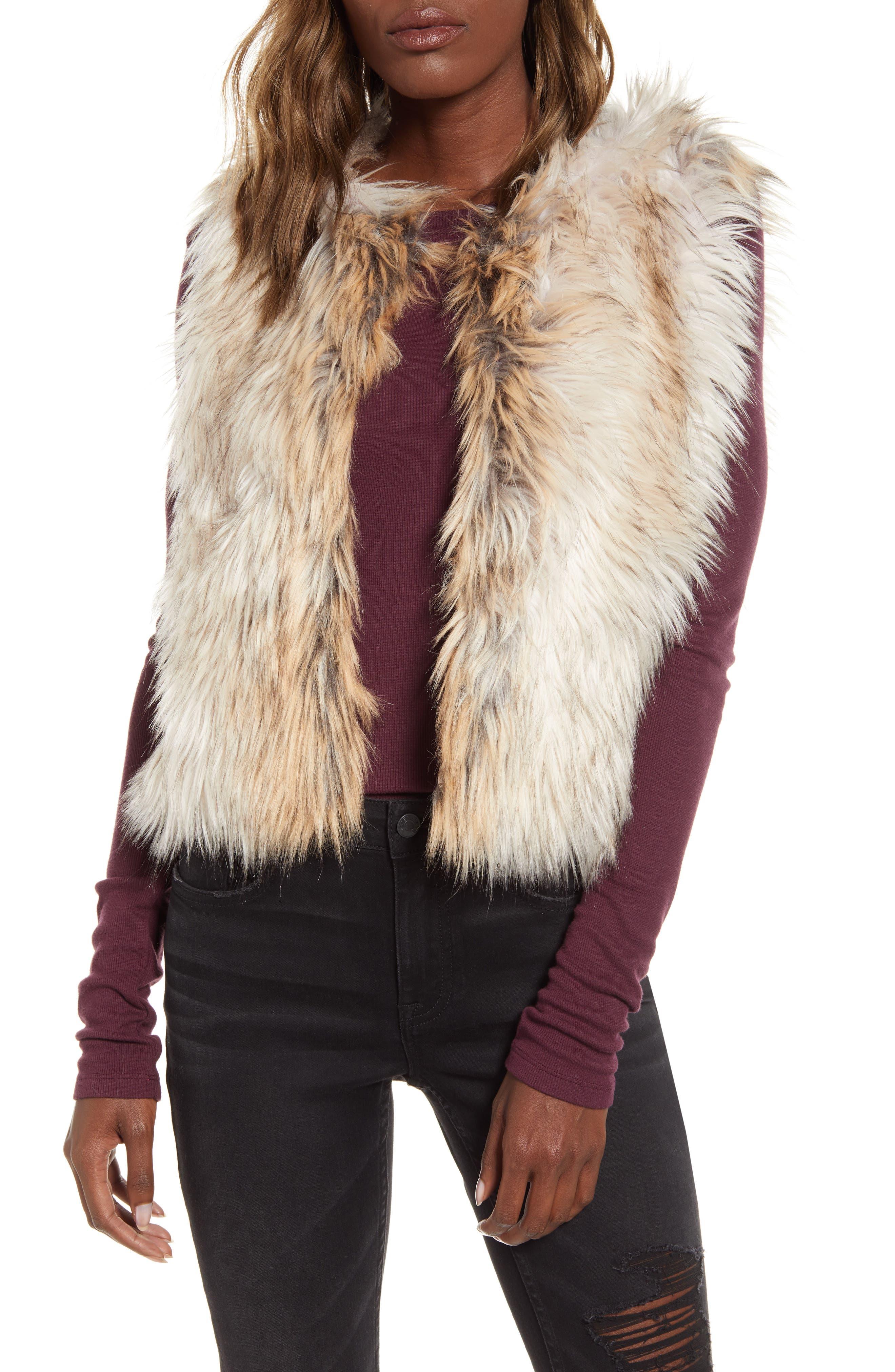Image of BB Dakota Bedrock City Faux Fur Vest