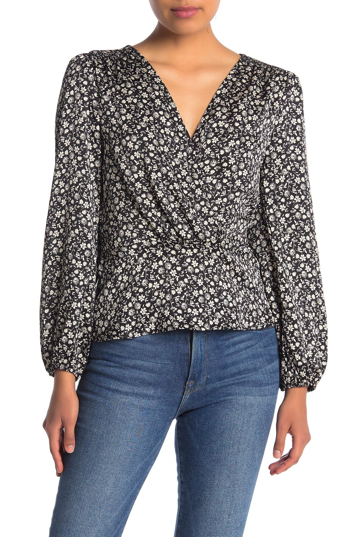 Image of Lush Floral Print Peplum Blouse