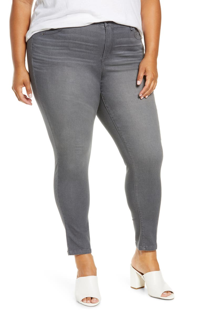 WIT & WISDOM Ab-Solution Ankle Skinny Jeans, Main, color, GY-GREY