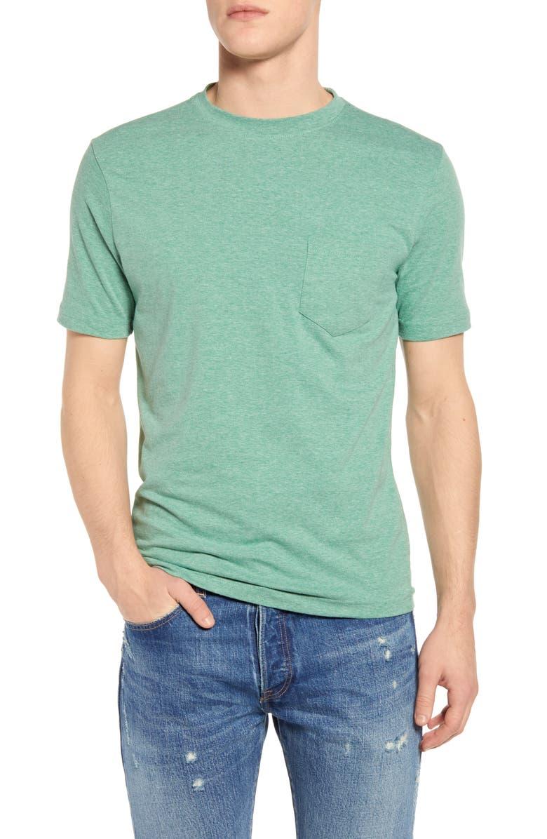 VINTAGE 1946 Heathered Stretch Pocket T-Shirt, Main, color, GREEN