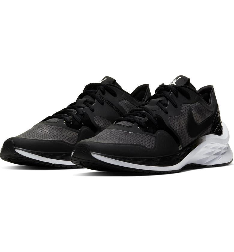 JORDAN Nike Jordan Air Zoom 85 Running Shoe, Main, color, BLACK/ WHITE/ RED