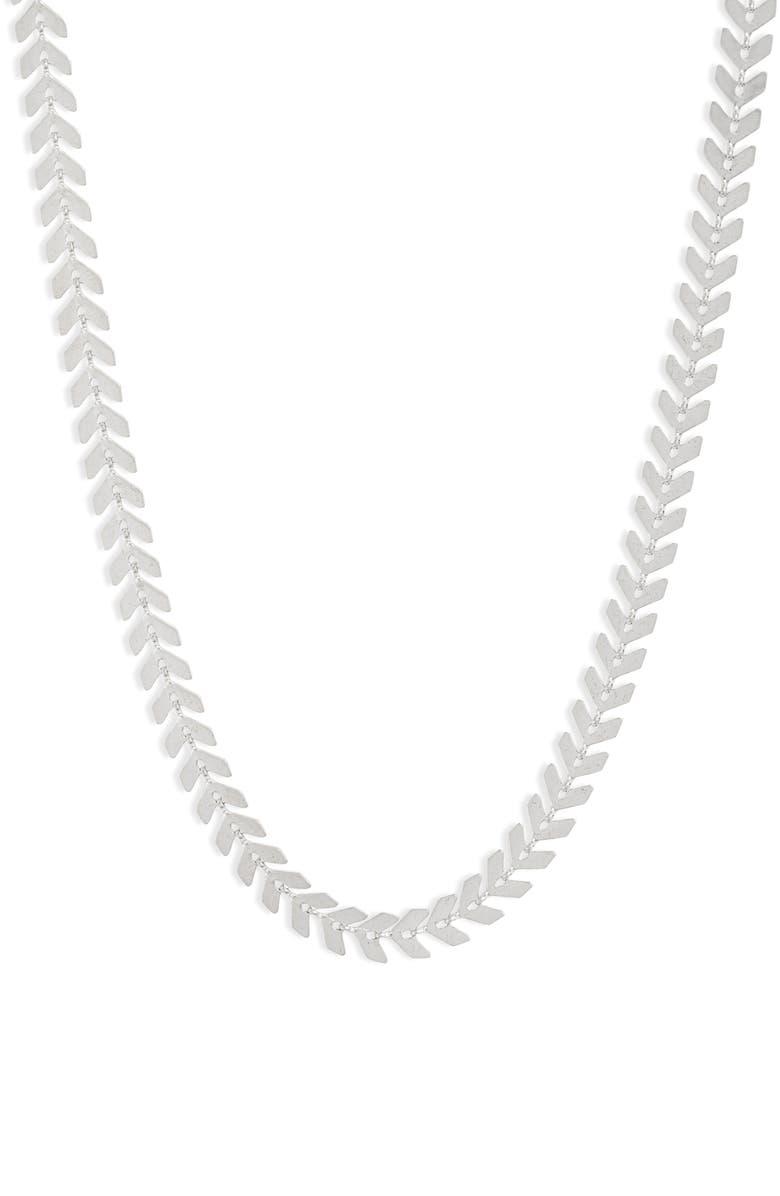 SET & STONES Carissa Collar Necklace, Main, color, SHINY SILVER