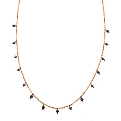 Sethi Couture Black Diamond Drop Necklace