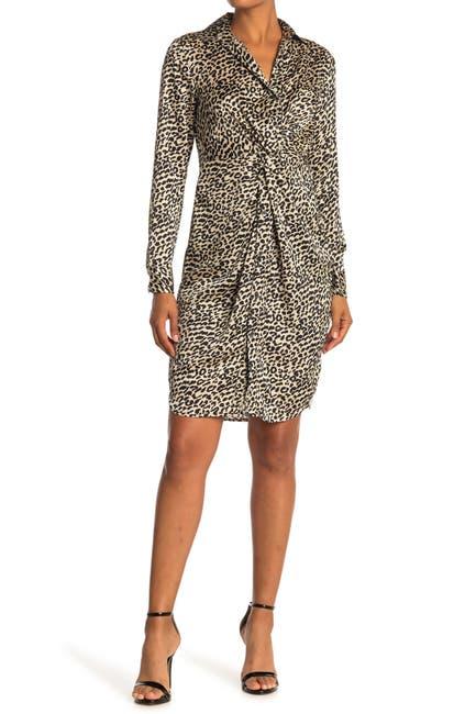 Image of Love Stitch Leopard Shirt Dress
