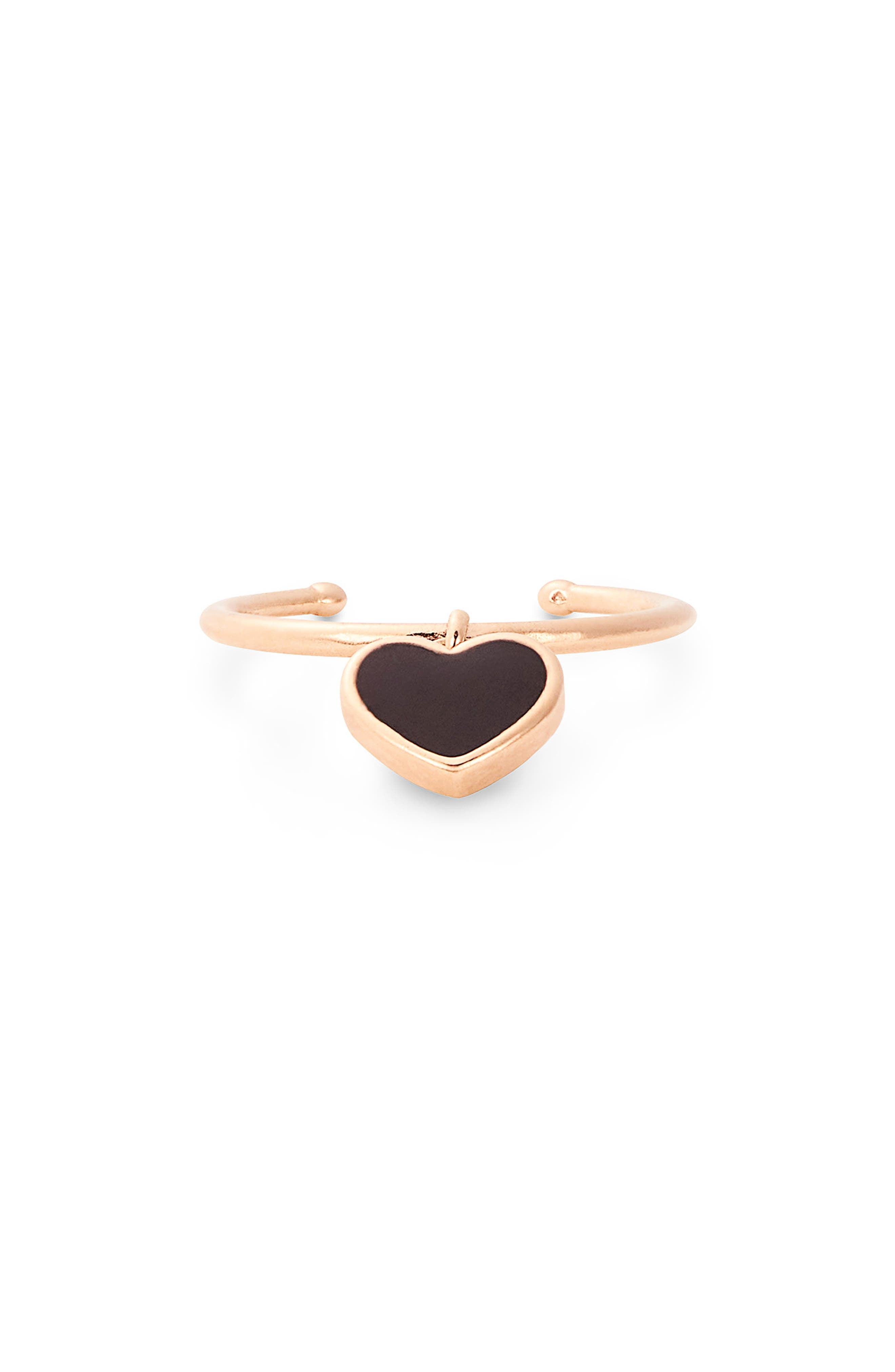 Image of Alex and Ani Love 14K Rose Gold Plated Heart Charm Ring