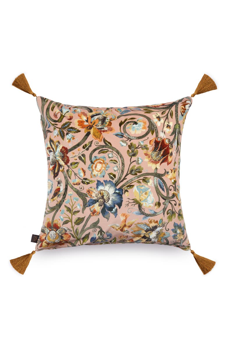 HOUSE OF HACKNEY Gaia Velveteen Accent Pillow, Main, color, BLUSH