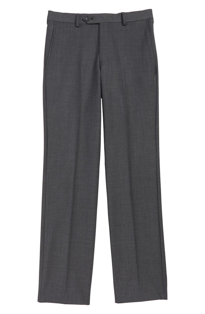 HART SCHAFFNER MARX Stretch Wool Trousers, Main, color, GREY
