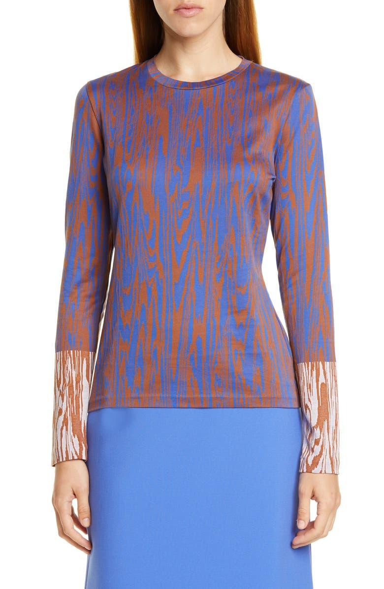 BOSS Efrany Knit Top, Main, color, KLEIN BLUE FANTASY