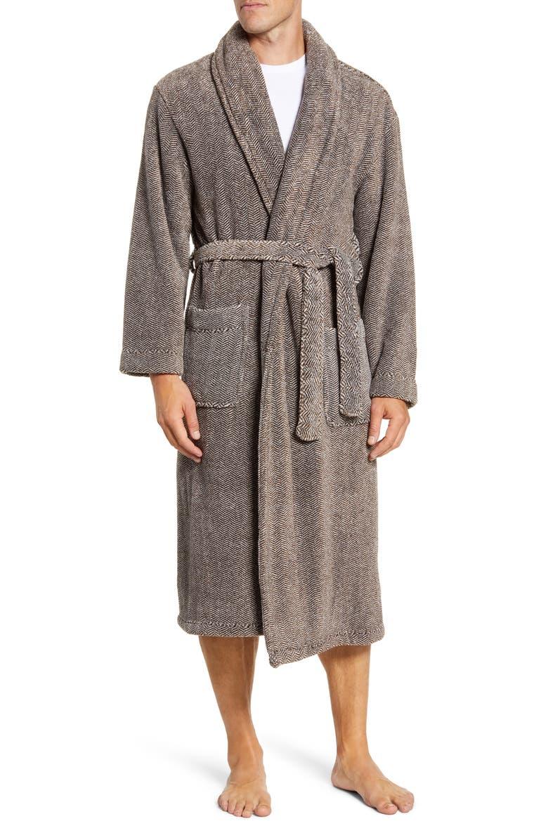 MAJESTIC INTERNATIONAL Mega Metro Plush Robe, Main, color, CHARCOAL