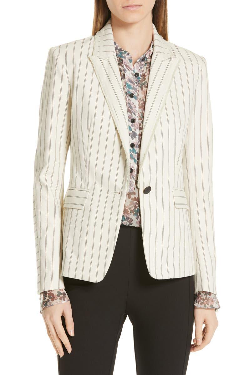 RAG & BONE Millie Frayed Blazer, Main, color, 900