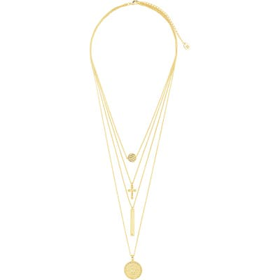 Sterling Forever Layered Charm Necklace