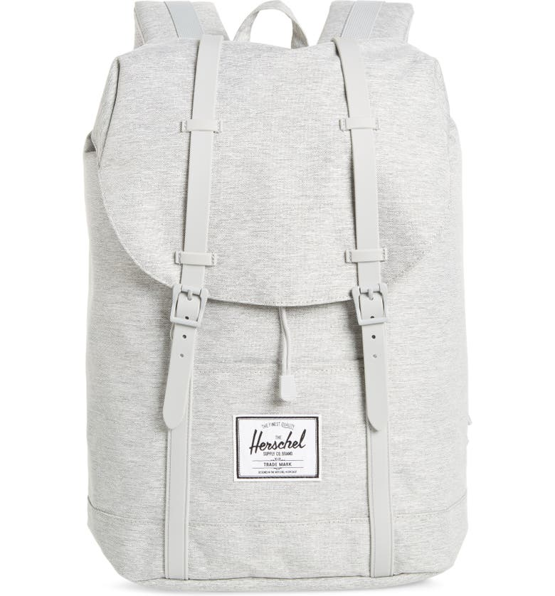 HERSCHEL SUPPLY CO. Retreat Backpack, Main, color, LIGHT GREY CROSSHATCH/ GREY