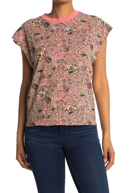 Image of Free People Poppy Dreams Patterned T-Shirt