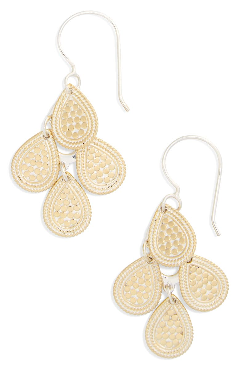 ANNA BECK Chandelier Earrings, Main, color, GOLD/ SILVER