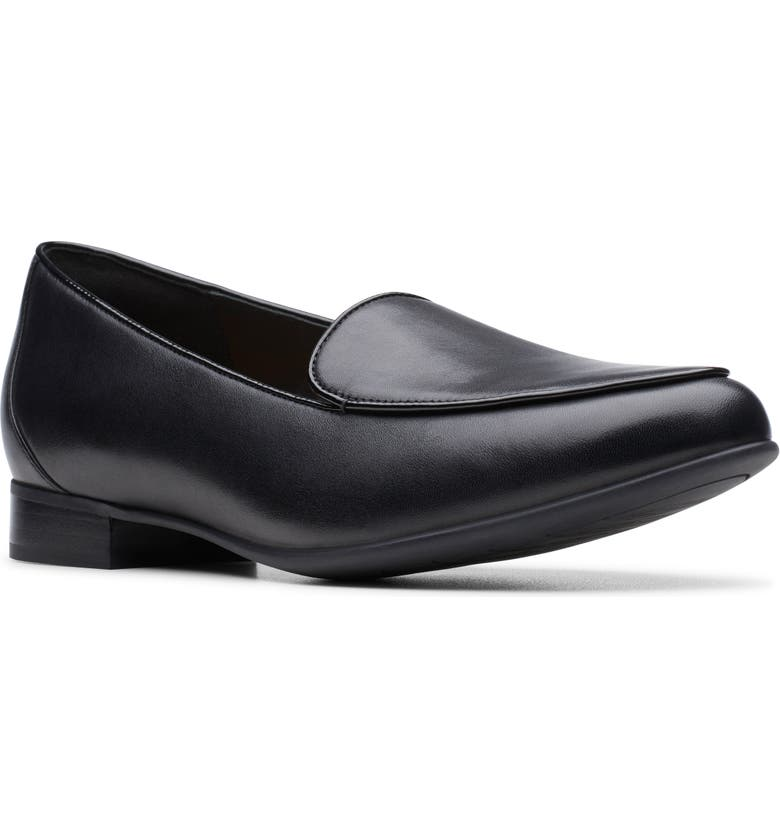 CLARKS<SUP>®</SUP> Un Blush Step Loafer, Main, color, BLACK LEATHER