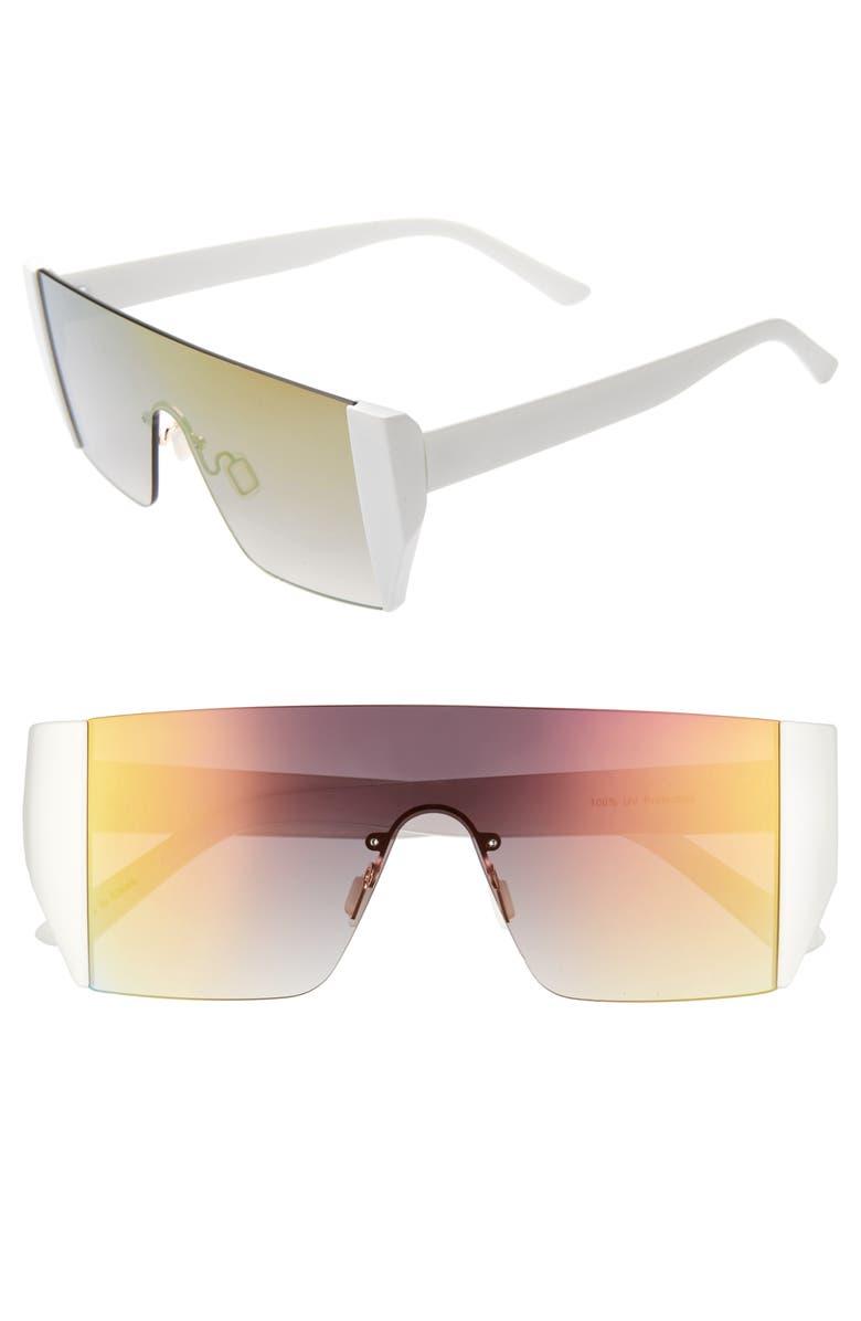 BP. Sporty Shield 120mm Sunglasses, Main, color, 100