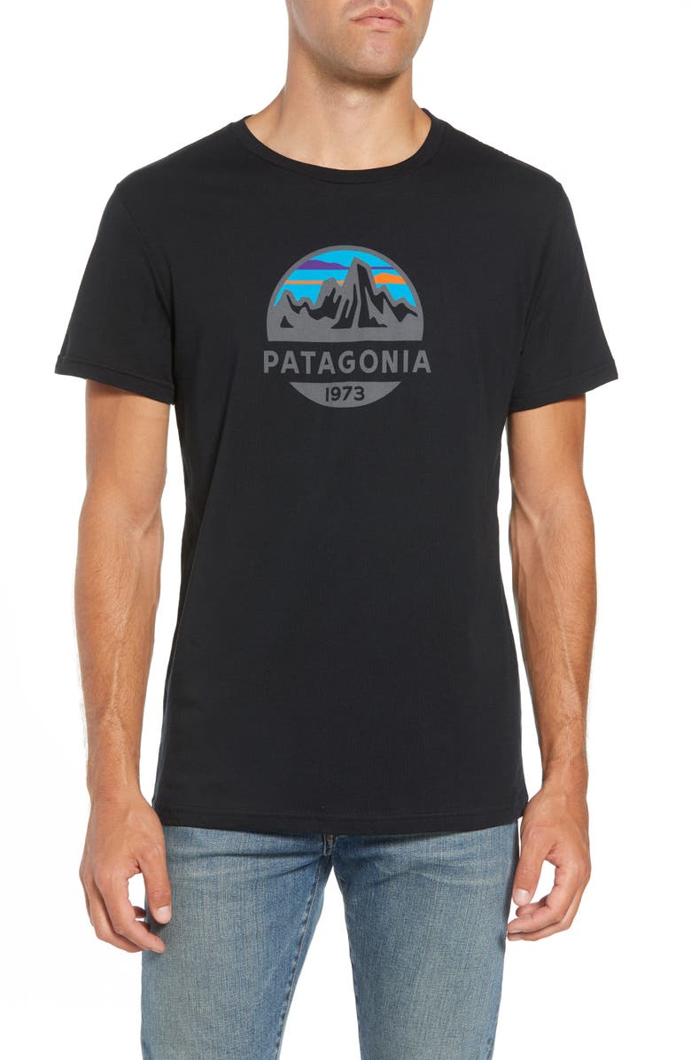 PATAGONIA Fitz Roy Scope Crewneck T-Shirt, Main, color, BLACK